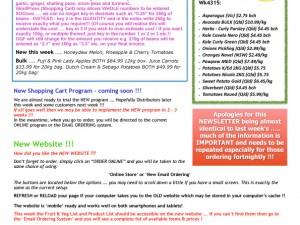 Newsletter 19 October