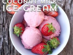 Strawberry & Coconut Milk Ice-cream