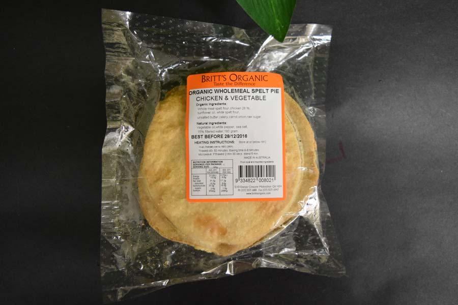 UO Spelt Chicken/Veg Pie 180g